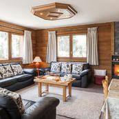 Living room of Chalets Foehn, Covie & Charmille, our trio of matching chalets.