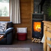Cosy up to the wood burner at the end of the day.