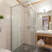 Chalet Covie's smart shower rooms.