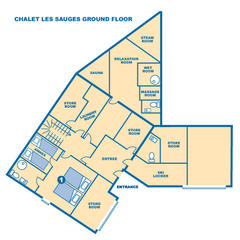 Chalet Les Sauges ground floor
