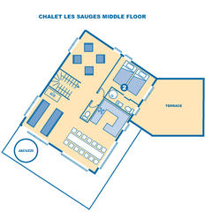 Chalet Les Sauges middle floor
