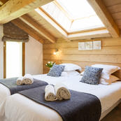 Chalet Les Sauges bedrooms all comfortably furnished, all ensuite