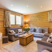 Chalet Les Sauges offers extra space with a 2nd living room.