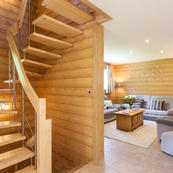 A fabulously spacious chalet, spread out over 3 floors.