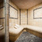 Les Sauges steam room, relax those muscles after a day in the mountains.