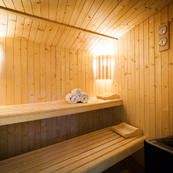 Soothe those tired muscels in Les Sauges sauna room
