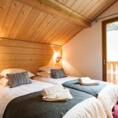 Chalet L'Erine top floor rooms with superb views from the balcony