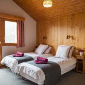 Chalet Charmille's generous sized top floor room with adjoining annex sleeps 3/4 ideal for a family of 4 or group of friends.