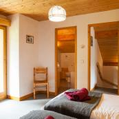 Chalet Foehn's bedrooms have lovely mountain views.