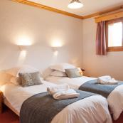 Chalet Covie's ground floor twin ensuite bedrooms are a good size.