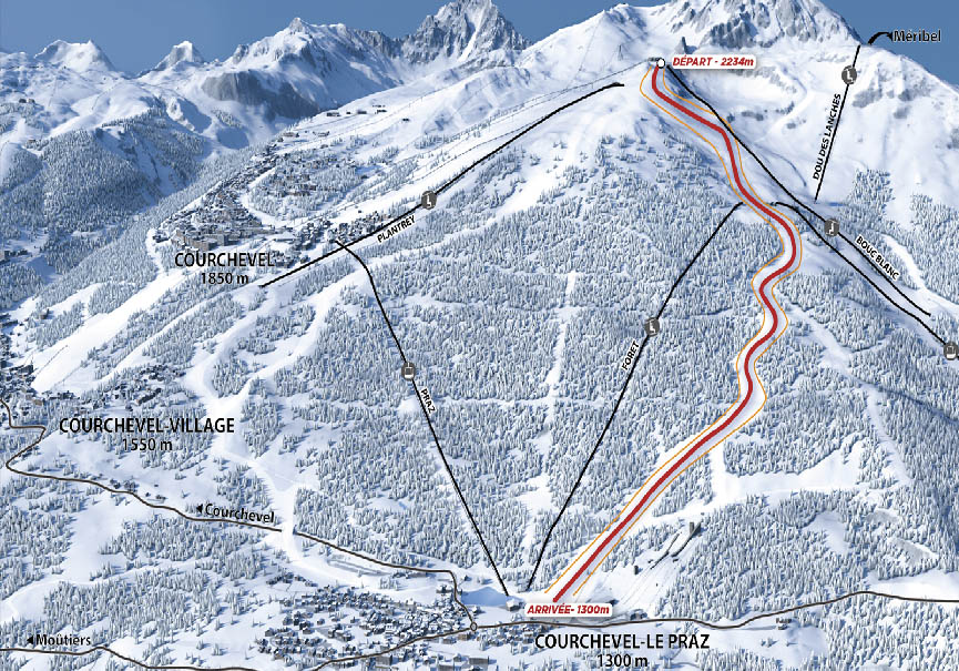 Discover the new 2023 Men's downhill run this winter